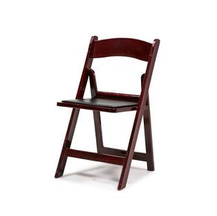Mahogany Resin Folding Chair