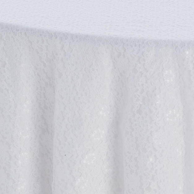 White Garden Lace Overlay