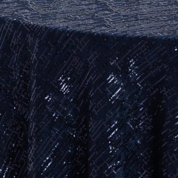 Navy Laser Cut Textured Sheer