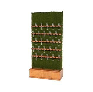 Champagne Grass Wall – Walnut Stain Base