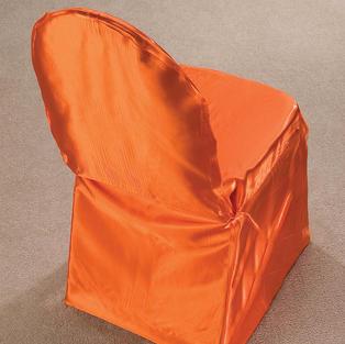 Orange Satin Pillow Case Cover