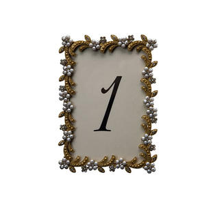 Swirl Gold Table Number