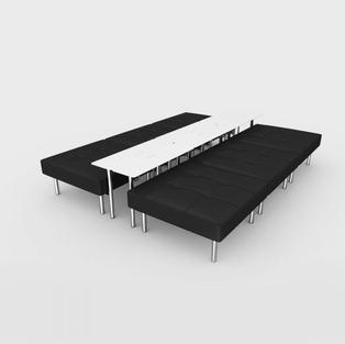 Endless Powered 6-Seat Square Ottoman/Table