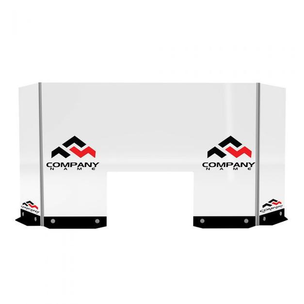 Clear Divider, Bar/Counter Logo