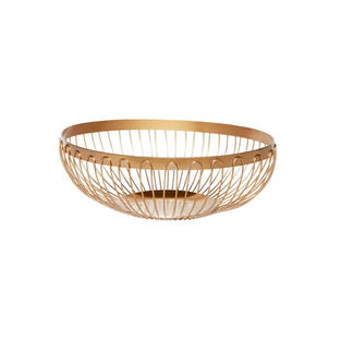 8″ Gold Wire Oval Bread Basket