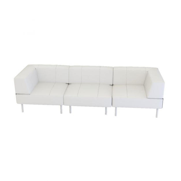 Endless Low Back Sofa w/ Arms