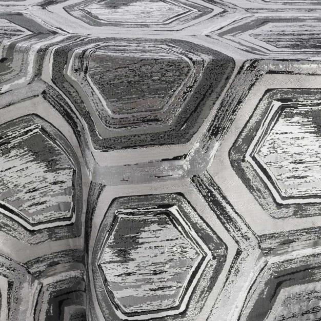Black Silver Octagon