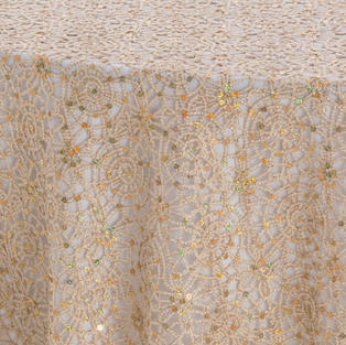 Champagne Chain Link Textured Sheer