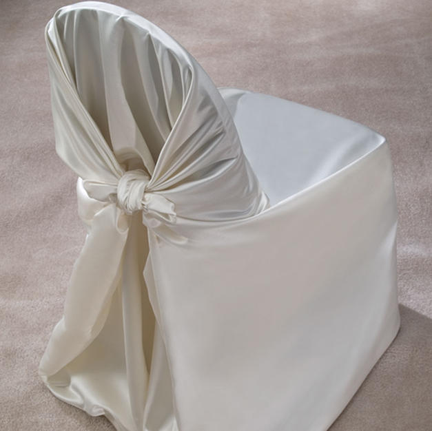 Ivory Satin Pillow Case Cover