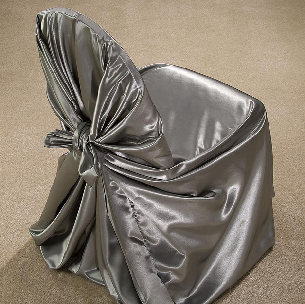 Pewter Satin Pillow Case Cover