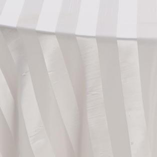 Ivory Satin Stripe Sheer Overlay