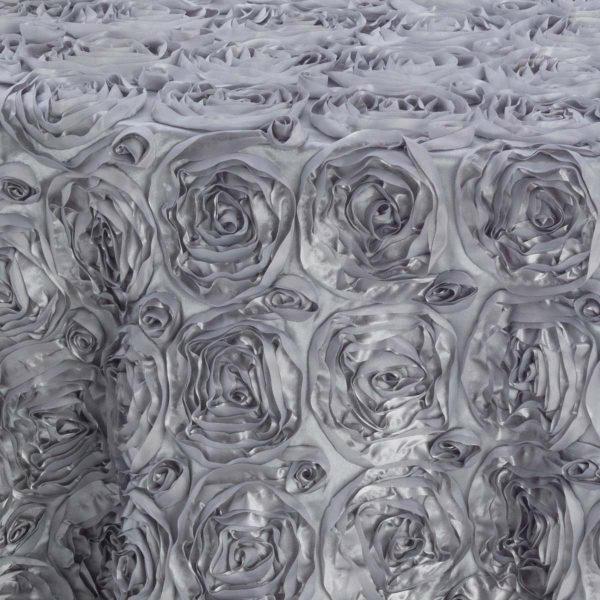 Silver Flower Taffeta