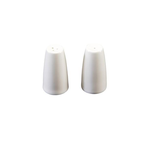 White China Salt & Pepper Shakers