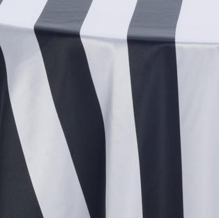Black White 3 Inch Stripes