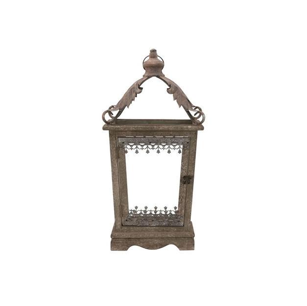 Antique Green Wood Lantern