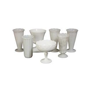 Large Milk Glass Vases