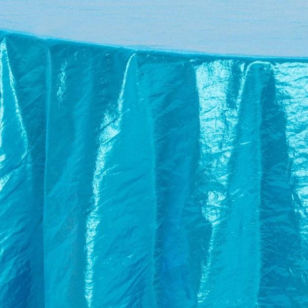Aqua Tissue Lame Overlay