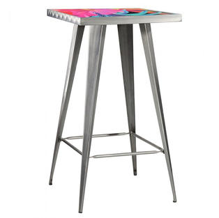 Rustique Square Metal Bar Table Logo