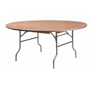 "60"" Round Wooden Table"