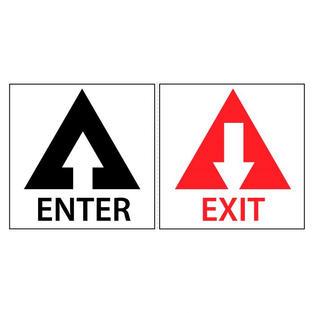 Enter/Exit Decal Set