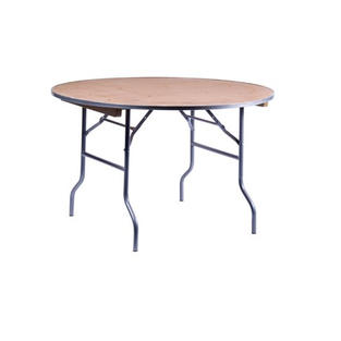 "48"" Round Wooden Table"
