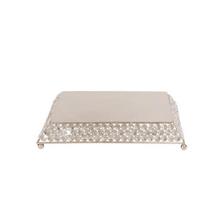 "12"" Square Bling Cake Stand"