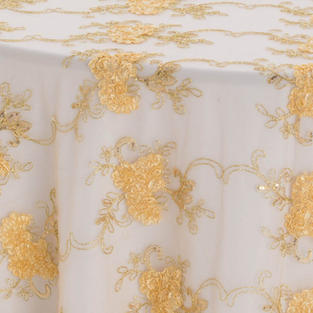 Gold Vintage Veil Textured Sheer Overlay