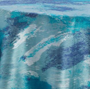 Watercolor Ocean Metallic Reversed