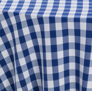 Blue and White Checker