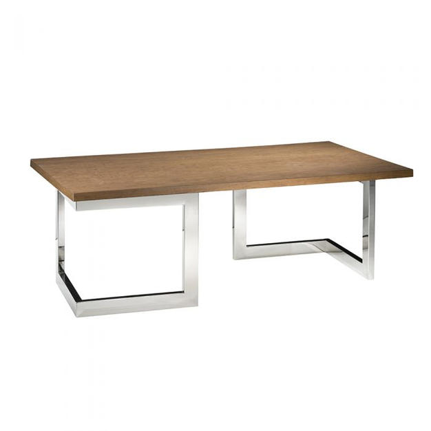 Geo Cocktail Table w/ Chrome Base