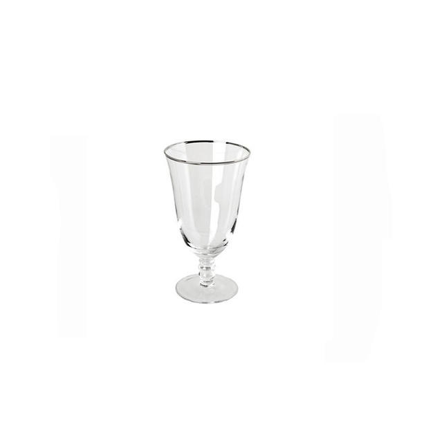 Silver Rim Stemware Water Goblet