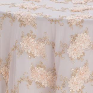 Blush Vintage Veil Textured Sheer