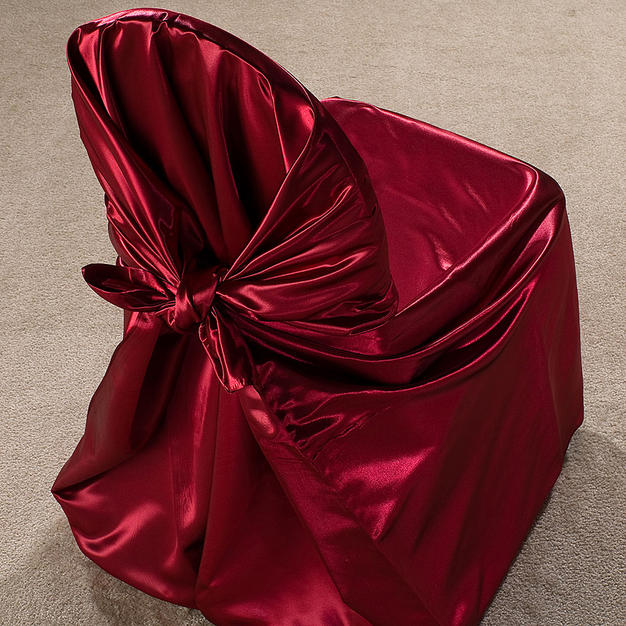 Burgundy Satin Pillow Case Cover