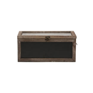 Wood Chalk Board Card Box