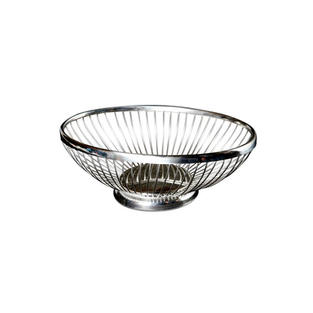 Silver Wire Oval Bread Baskets