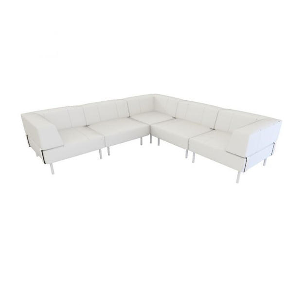 Endless Low Back Sectional w/ Arms