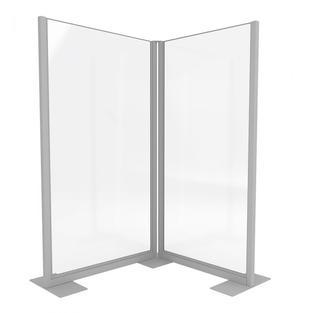 Clear Divider Freestanding Corner