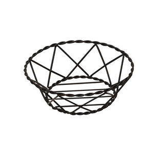 9″ Black Metal Round Bread Basket