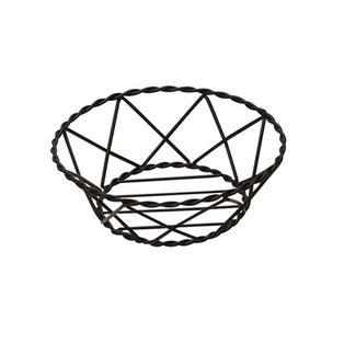 9″ Black Metal Round Bread Basket