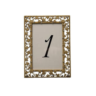 Gold Ivy Table Number