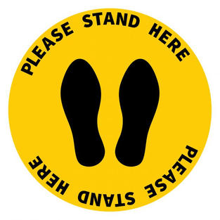 Please Stand Here Decal