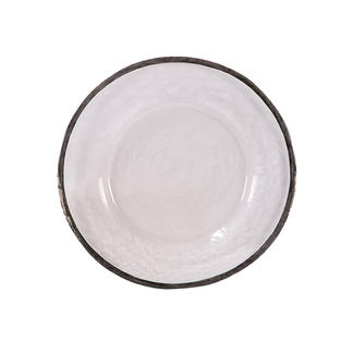 Silver Rim Glass Charger