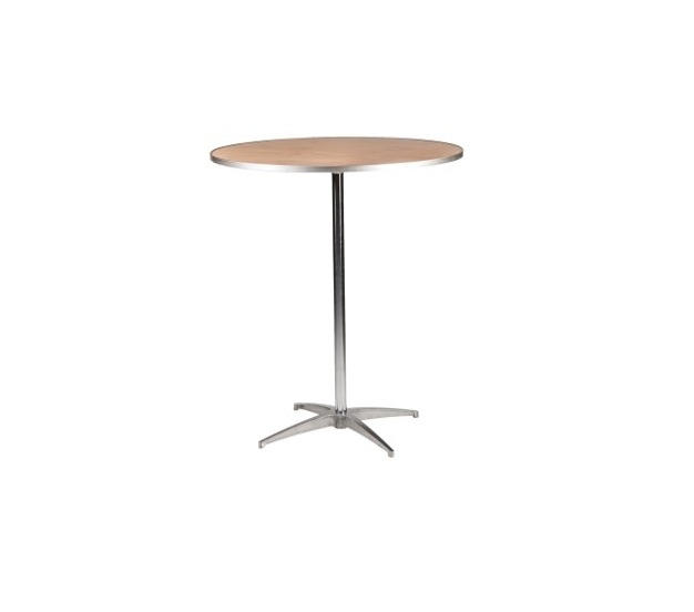 """36"""" Round Wooden High Top Table"""