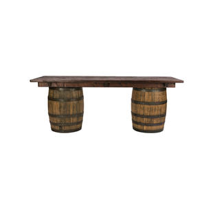 8' Whiskey Barrel Bar