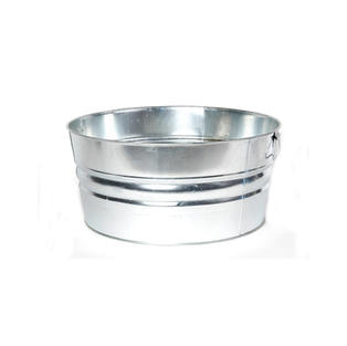 Round Metal Beverage Tub