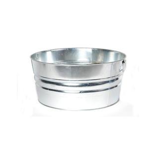 Round Metal Beverage Tub