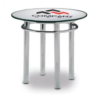 "24"" Round Glass Top Logo"