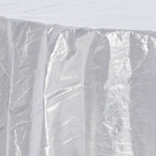Silver Tissue Lame Overlay