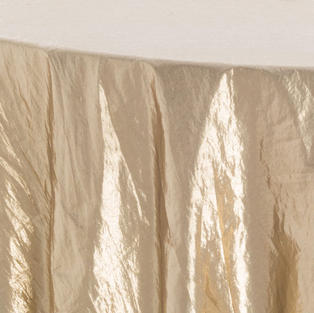 Gold Tissue Lame Overlay