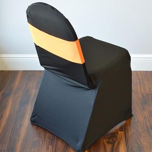 Orange Spandex Chair Band
